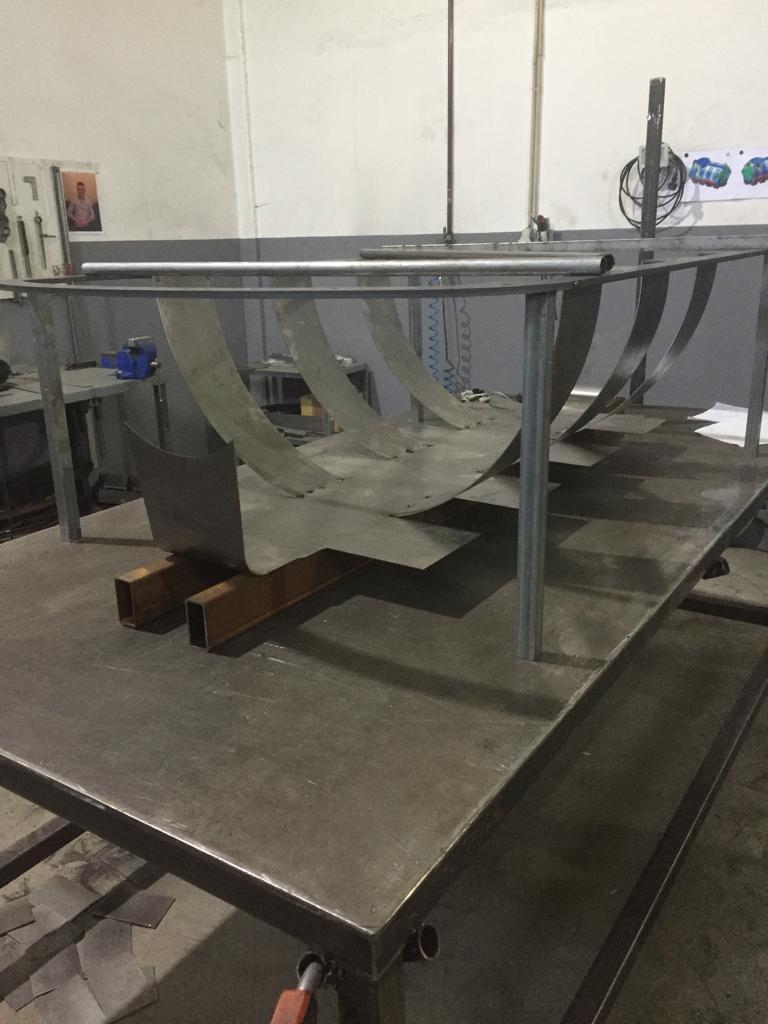 M2C aposta na produção de moldes para rotomoldagem. Molde em fase inicial de produção.