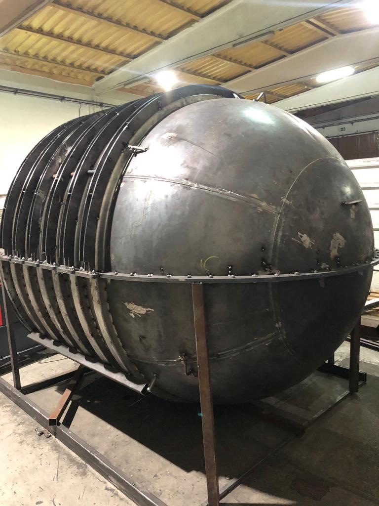 M2C aposta na produção de moldes para rotomoldagem. Molde para rotomoldagem em fase final de acabamento