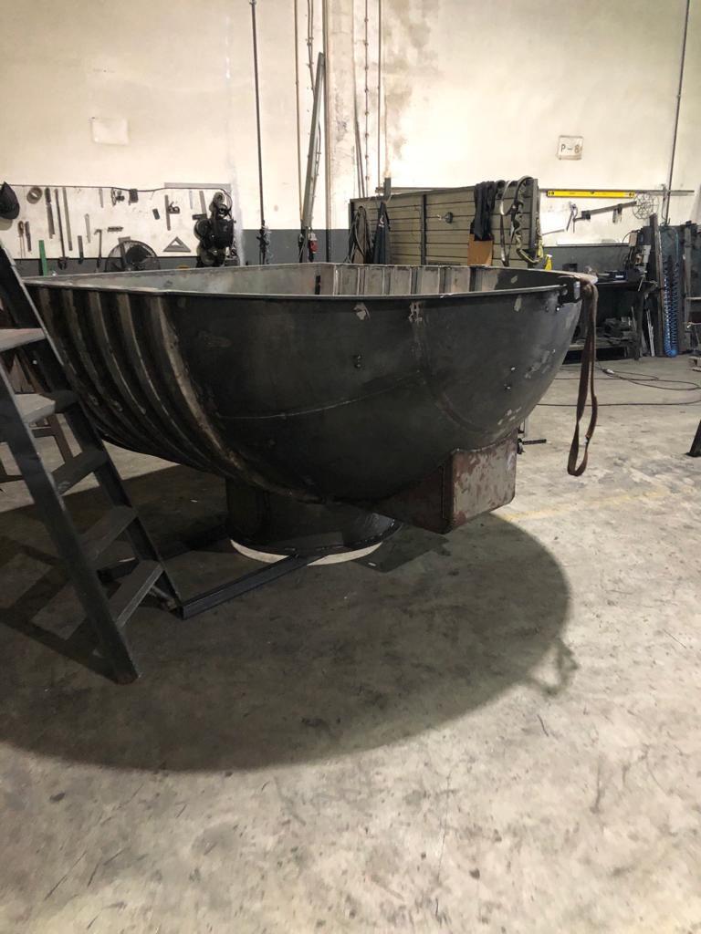 Molde para rotomoldagem em fase inicial de produção